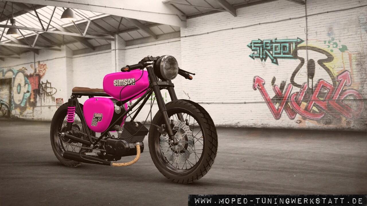 S51 Pink Retro Racer
